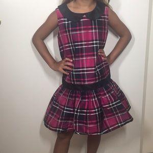Gymboree plaid pink party dress